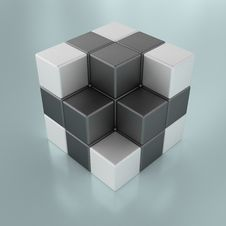 Free Abstract Cubes Royalty Free Stock Photography - 14281367