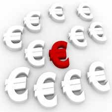 Free Euro Currency In Red Stock Photo - 14281410