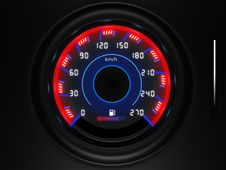 Free Car Dashboard Speedometer Stock Photos - 14281533