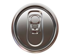 Beer Can Top View Royalty Free Stock Images