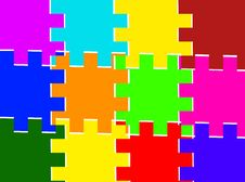 Free Squares Puzzled Background Royalty Free Stock Photos - 14281688