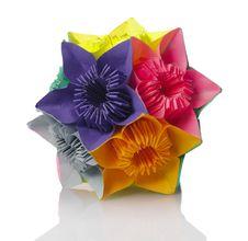 Origami Kusudama Flower Stock Photography