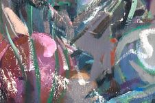 Abstract Fragment Of Painting Royalty Free Stock Photography
