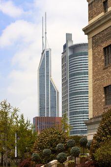 Free Shanghai Modern Buildings Stock Photography - 14282732