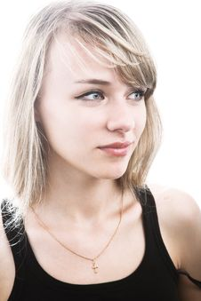 Free Close-up Of Young Blond Woman Stock Photo - 14283210