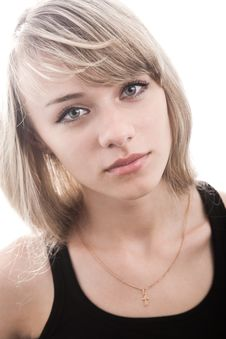 Free Close-up Of Young Blond Woman Royalty Free Stock Photography - 14283217