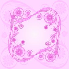 Free Floral Pink Frame Stock Photo - 14284160