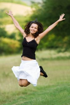 Free Jumping Girl Stock Image - 14284351