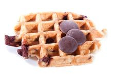 Free Waffles From Integral Wholegrain With Chocolate Royalty Free Stock Image - 14285016