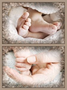 Free Baby Feet And Hand Royalty Free Stock Image - 14285176