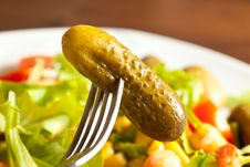 Free Colorful Salad With Cucumbers Royalty Free Stock Photo - 14285235