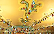 Free Colorful Lights On Carousel Ceiling Royalty Free Stock Photography - 14285287