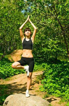Free Girl Doing Yoga Royalty Free Stock Image - 14285566