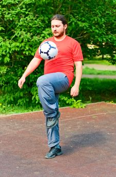 Free Guy With Ball Stock Photography - 14285572