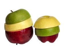 Red, Yellow And Green Apples Royalty Free Stock Images