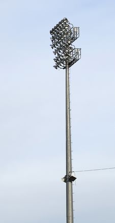 Free Stadium Light At Ballpark Royalty Free Stock Image - 14285726