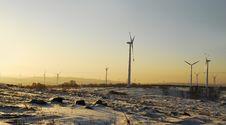 Free Windfarm At Sunrise Stock Images - 14286084