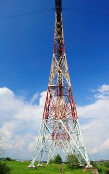Free Powerline On The Rock Stock Photography - 14286872