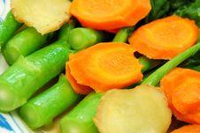 Closeup Of Chinese Kai Lan Vegetable Stem Royalty Free Stock Image