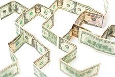 Money Rows Stock Photo