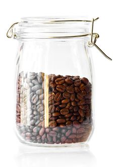 Free Coffee Beans In A Cristal Jar Royalty Free Stock Photos - 14287918
