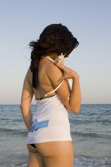 Free Woman Enjoys The Sea Stock Images - 14288154