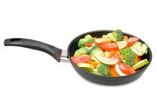 Free Vegetables In A Frying Pan Stock Photography - 14288362