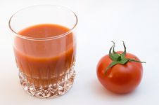 Tomato Juice And Tomato Royalty Free Stock Photo