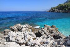 Free Rock And Sea Zingaro Sicily Italy Stock Photos - 14288483