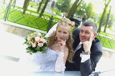 Wedding Wife And Husband Royalty Free Stock Photo
