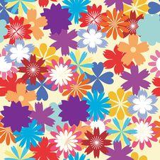 Free Seamless Flower Background Stock Photos - 14289003