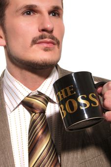 Free Businessman Drinking Coffee Royalty Free Stock Photos - 14289208