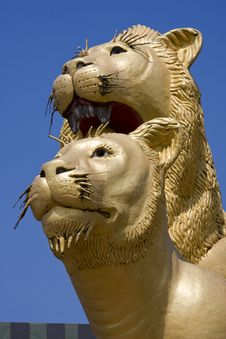 Free Statue Of Lion Stock Images - 14289324