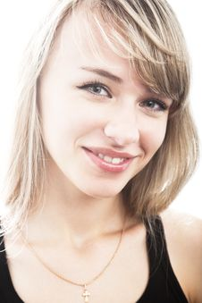 Free Close-up Young Blond Woman Stock Image - 14289561