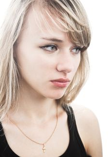 Free Close-up Young Blond Woman Royalty Free Stock Image - 14289566