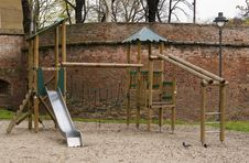 Free Wooden Playground Park With Slide Royalty Free Stock Photos - 14289628