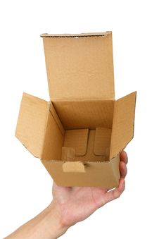 Man Hand With A Box Stock Images