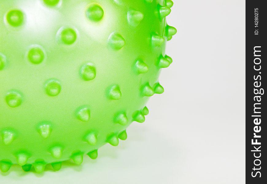 Green spiked ball