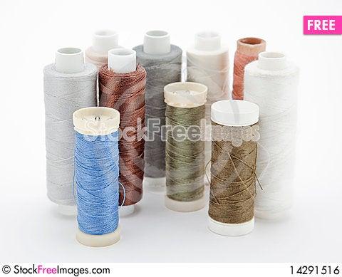 Free Spools Of Thread Royalty Free Stock Image - 14291516