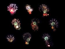 Free Collection Fireworks Royalty Free Stock Photography - 14291197