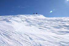 Alps Ski Touring Royalty Free Stock Photography