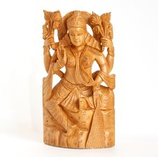 Free Wooden Figure Of God, A Souvenir Gift, India Royalty Free Stock Photography - 14291457