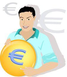 Free Euro Man Royalty Free Stock Photo - 14291785