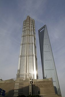 Jin Mao Building And Financial Center Building, Stock Images