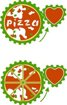 Free Vector Pizza - Vital Energy Royalty Free Stock Photos - 14291898