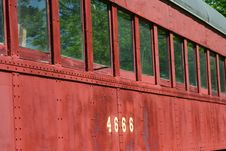 Old Passenger Train Car Royalty Free Stock Photo