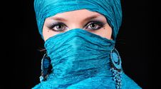 Free Blue Woman S Eyes With East Make-up Royalty Free Stock Image - 14292586