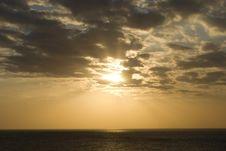 Free Sea Sunset Stock Photography - 14293012