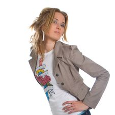 Young Stylish Blonde Woman