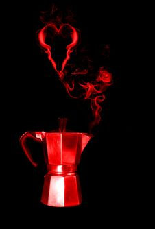 Free Red Hot Coffee Stock Image - 14293111